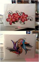 Tattoo Duct Tape Wallet by SilenceWriter