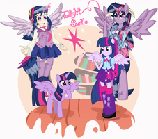 Twilight Sparkle(all versions cover)) by Arteses-Canvas