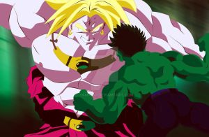 Broly vs Hulk2 by yamatai