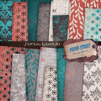 fever dream digital papers by paperstreetdesigns