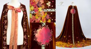Autumn cape details by Fairytas