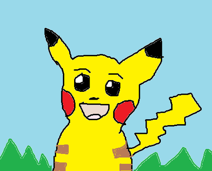 Pikachu- done in paint by Fran48