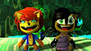 Sally and Nicole in LBP 2 by SonicsShadowisSilver