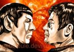 Spock and McCoy by NebelEule