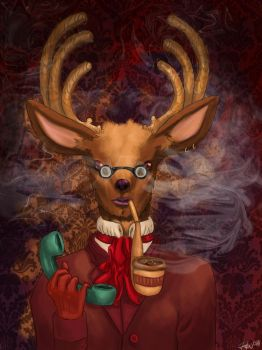 Deer the phone by Zillustra