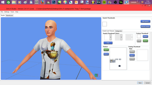 Beautiful shirt! - Custom Content for The Sims 4 by afterlined