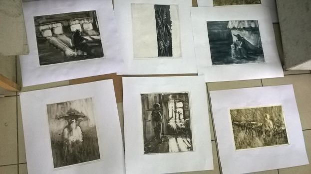 Monotypes series by iron2295