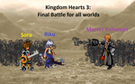 Kingdom Hearts 3: Final Battle for all worlds by KairaAethericBeast