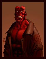 WyA's hellboy sketch by daniwuzheer