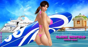 Claire Redfield     SURFIN'-BABE by blw7920