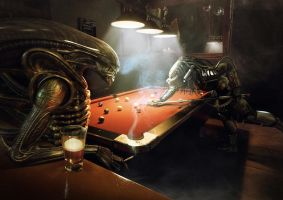 Alien Vs Predator: Pool by Xidon
