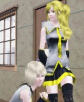 The Sims 3 Rin and Neru [VOCALOID] by Mitsuki-Dorouda
