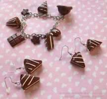 Chocolate Lover Jewelry by CantankerousCupcake