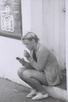 Sitting, Smoking And Texting by Neville6000