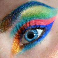 Rainbow Eye Makeup by LaurenGibson