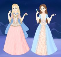 Anneliese and Erika in Snow Scene maker by Arrelline