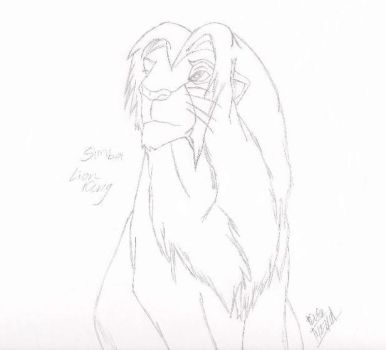 Simba Lion King sketch for Mike by imekak