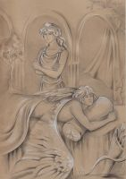 Aphrodite and Eros by AnotherStranger-Me