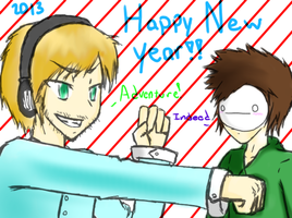 Happy New year Bros by Derian-Ryousaki