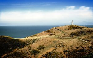 Lighthouse on Rugged Hills by awe-inspired