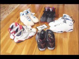 Air Jordan 7 Lineup pt 5 by BBoyKai91