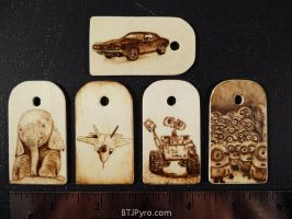 Various mini woodburnings by brandojones