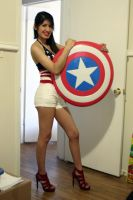 Chillin with my Captain America shield by thejoannamendez