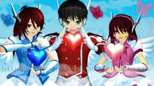 [MMD] Angels of Love by MrMario31095
