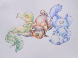 Unova Starters by Silverbirch