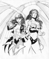 Zatanna and Wonder Woman by 0boywonder0