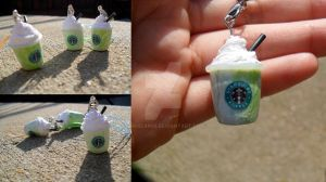 Miniature Starbucks GreenTea Frappuccinos by minibean93
