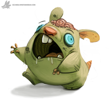 Daily Painting 769. Zombie Hamster by Cryptid-Creations