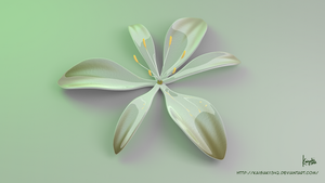3d Flower : Glossy Anthericum Liliago by kaisaki1342