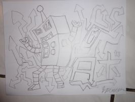 Graffiti Art First Attempt by RealSF