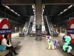 Ponies On the Jubilee Line by Uponia