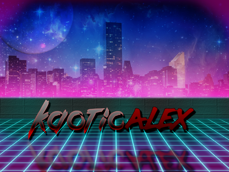 Retro 80's Neon Future Banner by KaoticAlex