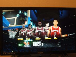 NBA2K11 Milwaukee Bucks Starting 5 by werewolf85