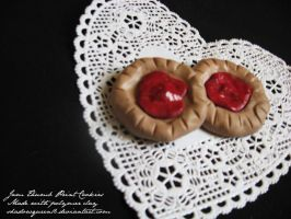Jam Thumbprint Clay cookies by shadowqueen16