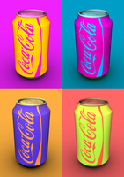3D Pop Art inspriled Coca-Cola Can by AndrewBooth