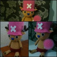 Chopper from One Piece amigurumi [comision] by ForgottenMermaid