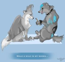 Walk a mile in my shoes... by Ronto