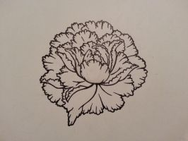 Peony Tattoo Outline by TheMello