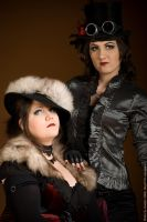 Mme. Flamara and Miss VonRoyal by GvonR