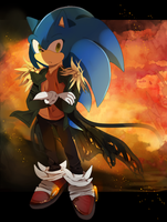 Anime Sonic (older ver.) by koda-soda