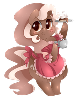 Coffee Bean Chibi by Xeella