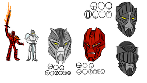 Toa Magna Sketches by jakest123
