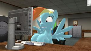 Rainbow Dash discovers the Internet by TBWinger92
