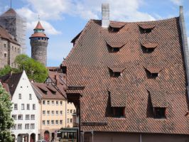 Duerer and the castle of Nuremberg by andersvolker