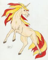 Rapidash by crmsndragonwngs