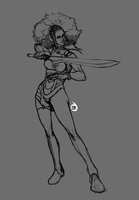 afro -line by Jun-OH